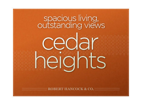 Cedar Heights website cover page