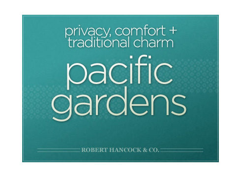 Pacific Gardens website cover page