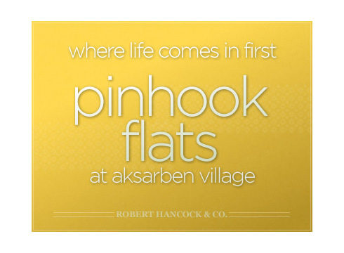 Pinhook Flats website cover page