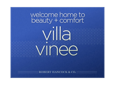 Villa Vinee website cover page